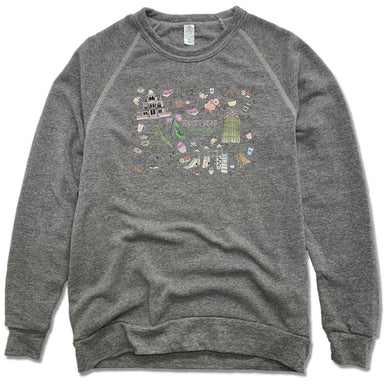 SWEET PEAS PLAY CAFE  | FLEECE SWEATSHIRT | MURAL