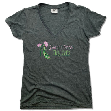 SWEET PEAS PLAY CAFE | LADIES V-NECK | LOGO