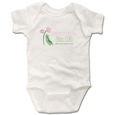 SWEET PEAS PLAY CAFE  | WHITE ONESIE | LOGO