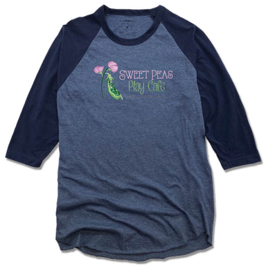 SWEET PEAS PLAY CAFE  | NAVY 3/4 SLEEVE | LOGO
