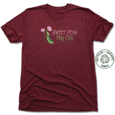 SWEET PEAS PLAY CAFE  | UNISEX VINO RED Recycled Tri-Blend | LOGO