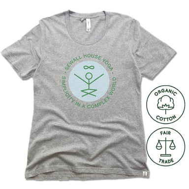 SEWALL HOUSE YOGA RETREAT | FAIRTRADE FREESET LADIES TEE | GREEN LOGO