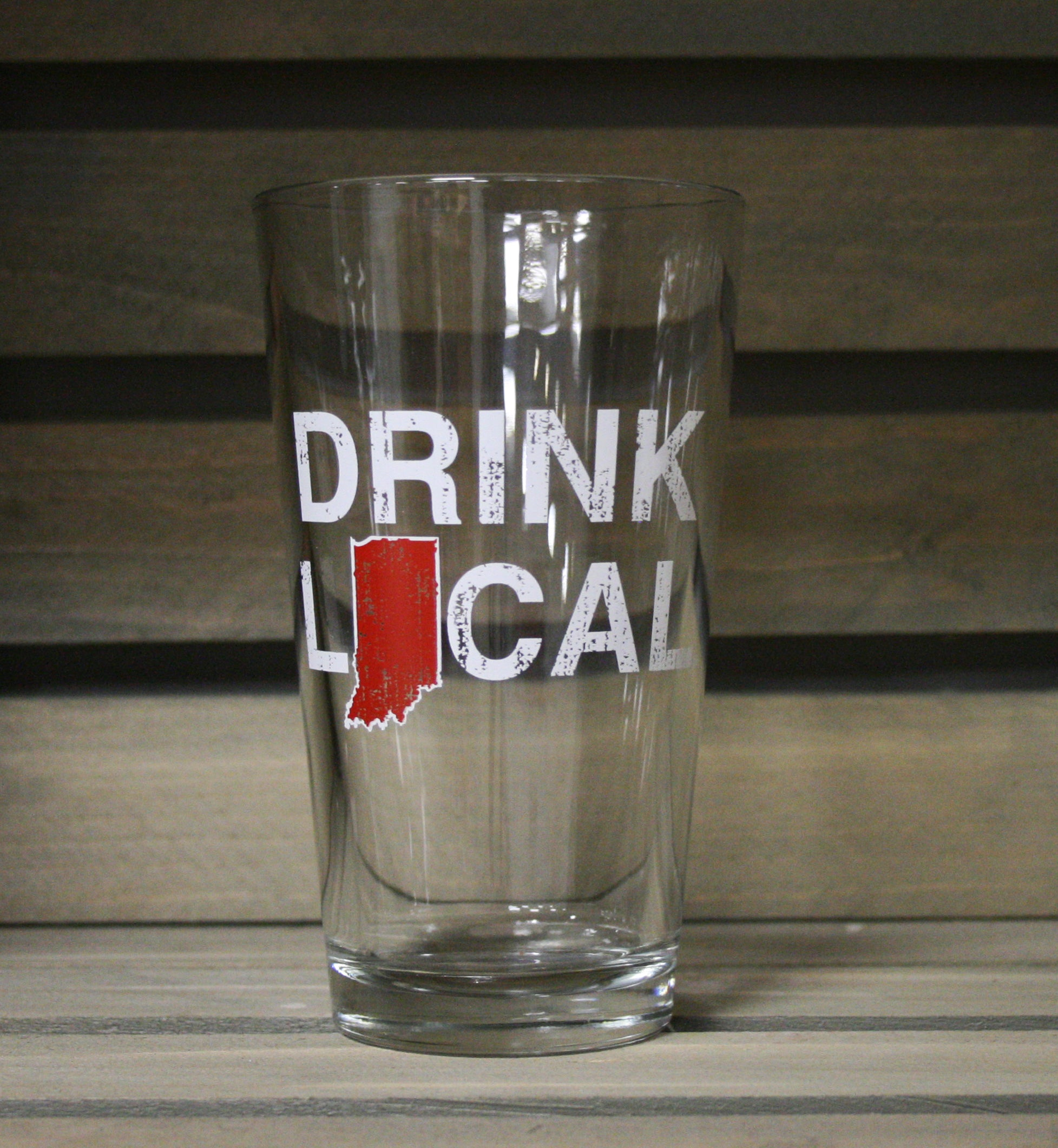 INDIANA PINT GLASS | DRINK LOCAL | CRIMSON