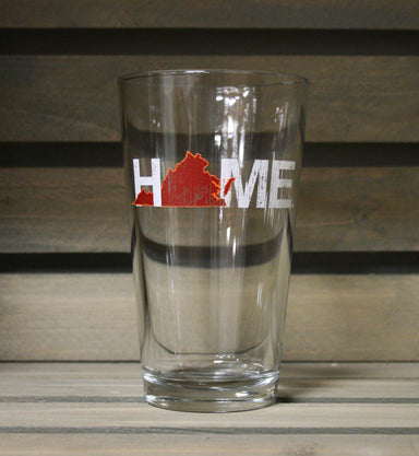 VIRGINIA PINT GLASS | HOME | MAROON - My State Threads