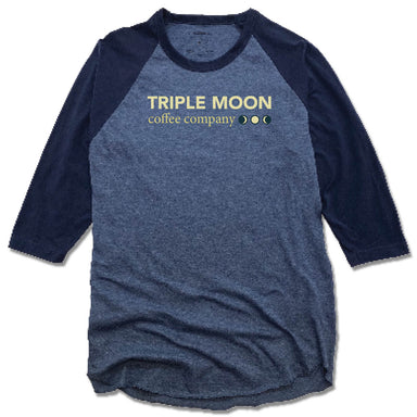 TRIPLE MOON COFFEE  | DENIM/NVY 3/4 SLEEVE | LOGO