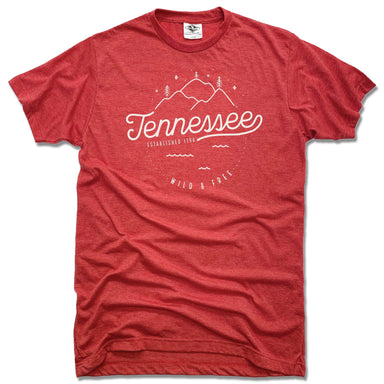 TENNESSEE | UNISEX RED TEE | CREST