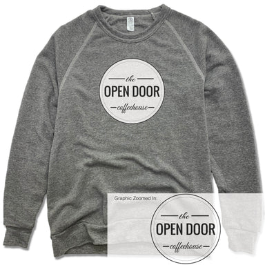 THE OPEN DOOR | FLEECE SWEATSHIRT | WHITE LOGO - SOLID
