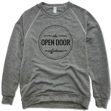THE OPEN DOOR | FLEECE SWEATSHIRT | LOGO - BLACK