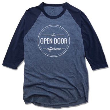 THE OPEN DOOR | DENIM/NAVY 3/4 SLEEVE | LOGO - WHITE