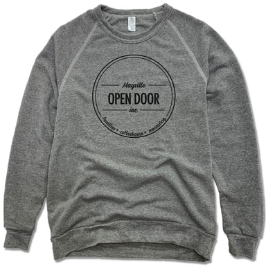THE OPEN DOOR | FLEECE SWEATSHIRT | LOGO - SMALL