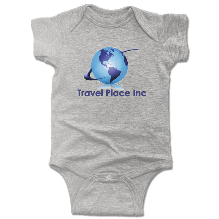 TRAVEL PLACE INC | GRAY ONESIE | LOGO