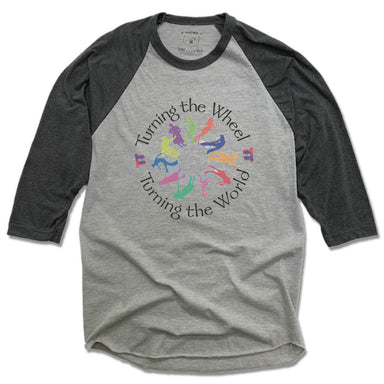 TURNING THE WHEEL PRODUCTIONS | GRAY 3/4 SLEEVE | BLACK LOGO