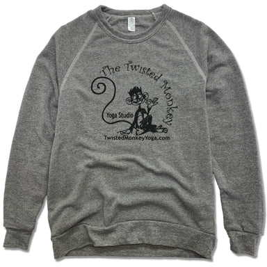 TWISTED MONKEY YOGA | FLEECE SWEATSHIRT | BLACK LOGO