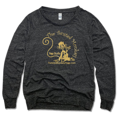 TWISTED MONKEY YOGA | LADIES SLOUCHY | GOLD LOGO