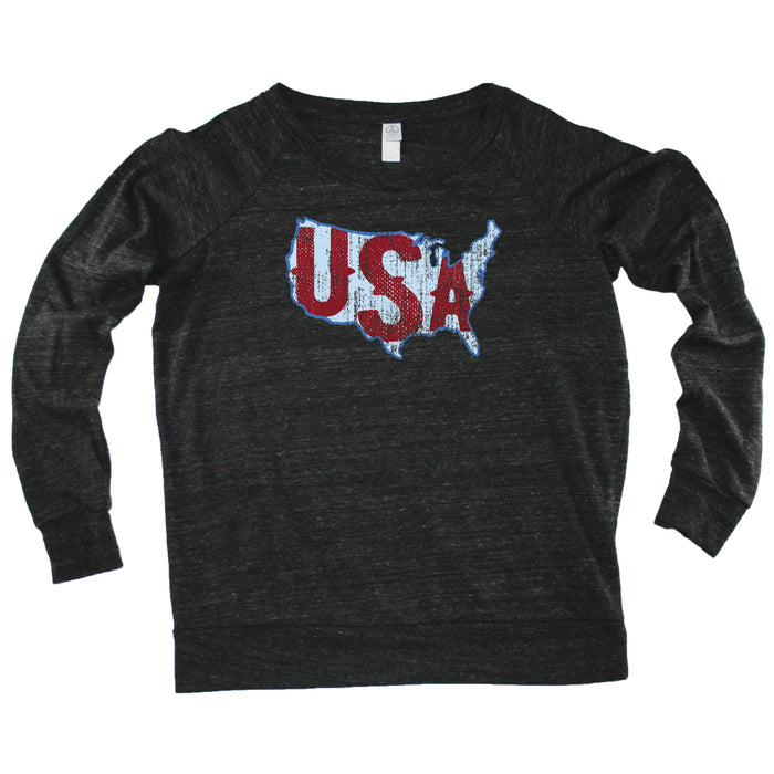 USA Vintage Map - Slouchy Top
