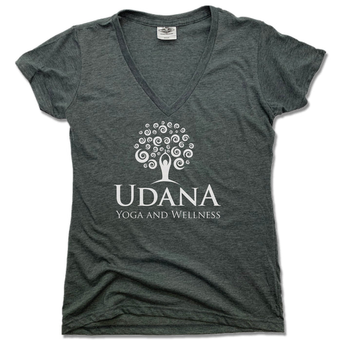 UDANA YOGA & WELLNESS | LADIES V-NECK | LOGO