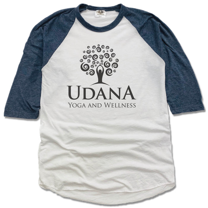 UDANA YOGA & WELLNESS | NAVY 3/4 SLEEVE | LOGO