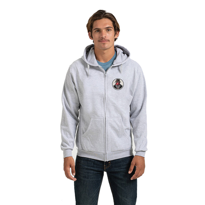 VULGAR BREWING CO | LIGHT GRAY ZIP HOODIE | LOGO