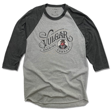 VULGAR BREWING CO | GRAY 3/4 SLEEVE | BLACK COLOR FACE LOGO