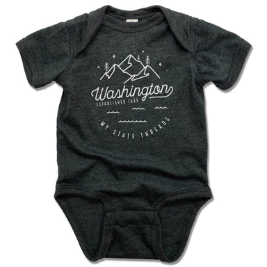 WASHINGTON | GRAY ONESIE | CREST