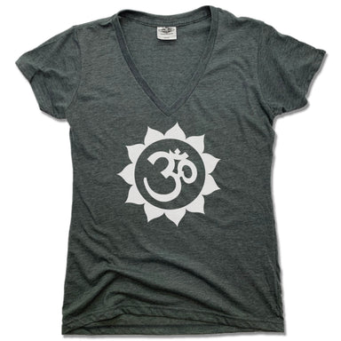 WEST ASHEVILLE YOGA | LADIES V-NECK | NAMASTE