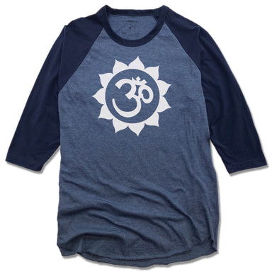 WEST ASHEVILLE YOGA | DENIM/NAVY 3/4 SLEEVE | NAMASTE