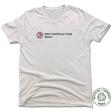 WEST ASHEVILLE YOGA | UNISEX WHITE Recycled Tri-Blend | LOGO