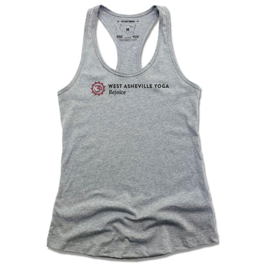 WEST ASHEVILLE YOGA | LADIES GRAY TANK | LOGO