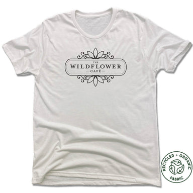 WILDFLOWER CAFE | UNISEX WHITE Recycled Tri-Blend | LOGO