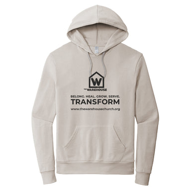 The Warehouse Church | Washed Terry Hoodie | Monogram Black
