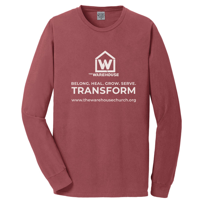 The Warehouse Church | Long Sleeve Tee | Monogram White