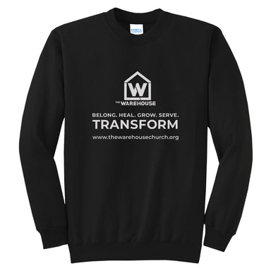 The Warehouse Church | Crew Sweatshirt | Monogram White