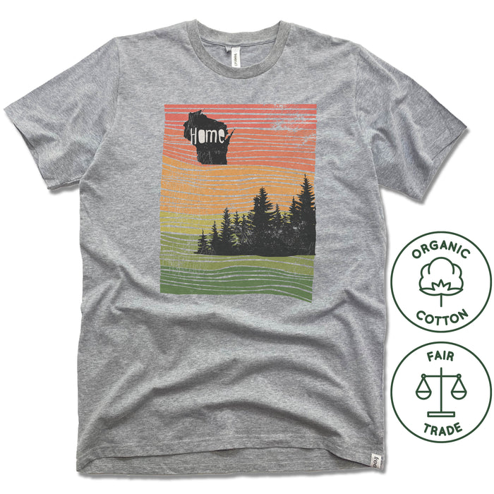 WISCONSIN | FREESET UNISEX TEE | HOME LINE ART