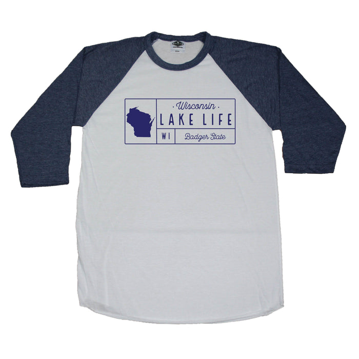 Wisconsin Lake Grid - 3/4 Sleeve
