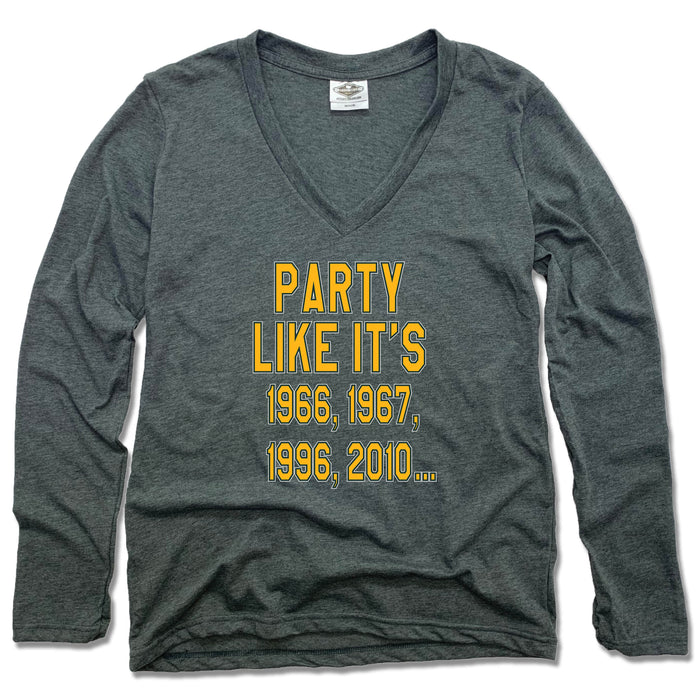 Wisconsin Party Like It's - Ladies' Longsleeve