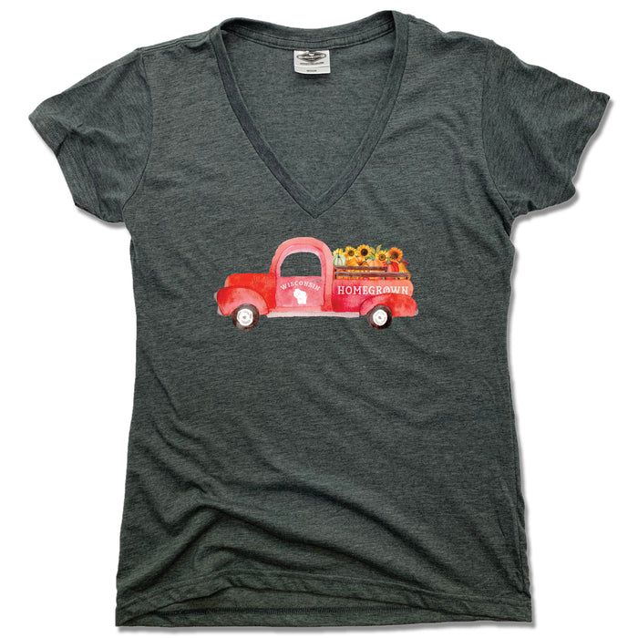Wisconsin Fall Homegrown Truck - Ladies' Tee