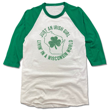 WISCONSIN | 3/4 SLEEVE | JUST AN IRISH GIRL