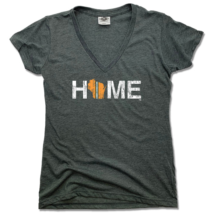 Wisconsin Home Stripe - Ladies' Tee