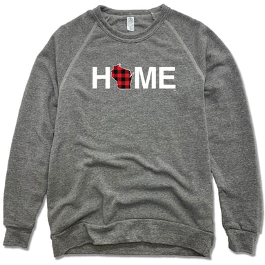WISCONSIN SWEATSHIRT | HOME | PLAID