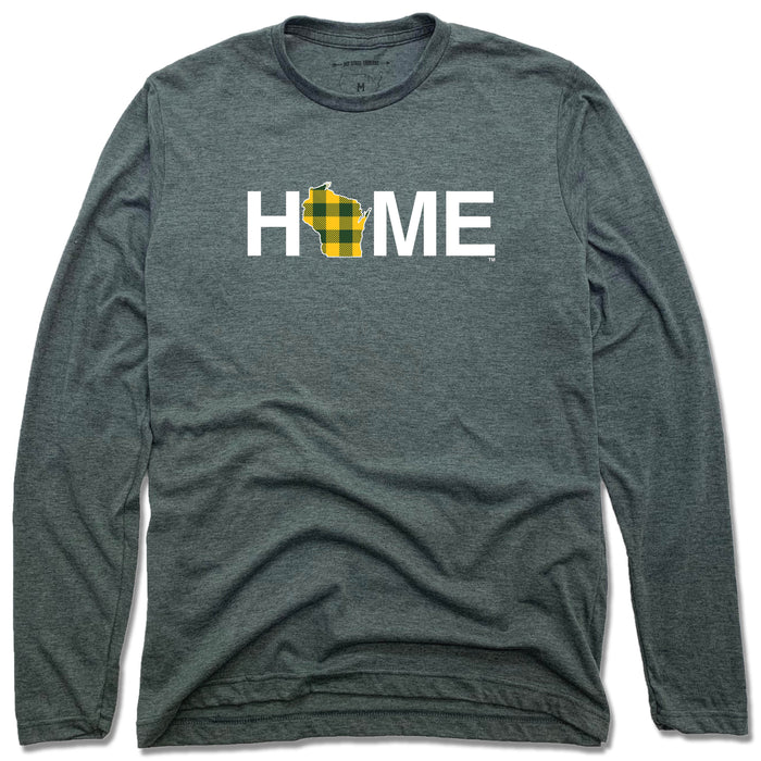 WISCONSIN LONG SLEEVE TEE | HOME | PLAID GREEN/GOLD