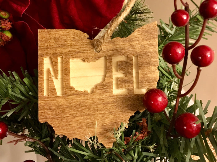 OHIO ORNAMENT | NOEL | WOOD