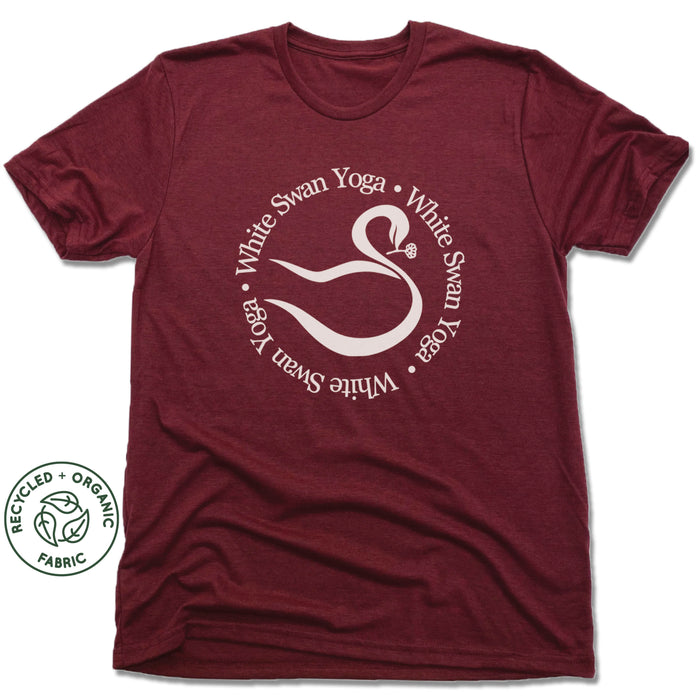 WHITE SWAN YOGA | UNISEX VINO RED Recycled Tri-Blend | LOGO