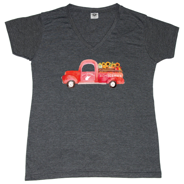 West Virginia Fall Homegrown Truck - Ladies' Tee