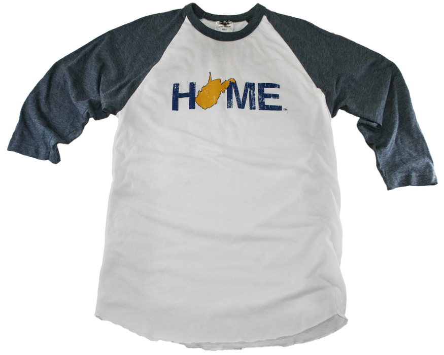 WEST VIRGINIA 3/4 SLEEVE | HOME | NAVY/GOLD