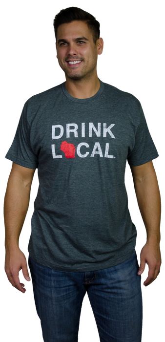 WISCONSIN TEE | DRINK LOCAL | RED