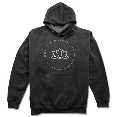 YOGA ON MAIN | HOODIE | WHITE LOGO