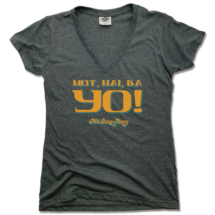 LADIES GRAY V-NECK | MOT, HAI, BA YO! | PHO LANG THANG