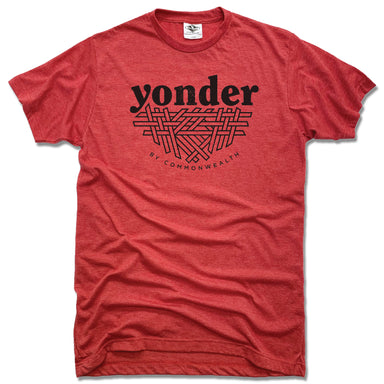 YONDER | UNISEX RED TEE | BLACK LOGO
