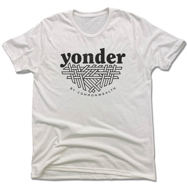 YONDER | UNISEX WHITE Recycled Tri-Blend | BLACK LOGO