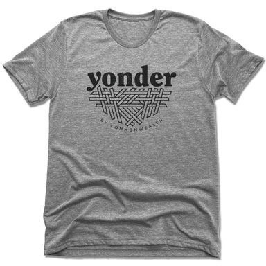 YONDER | UNISEX GRAY Recycled Tri-Blend | BLACK LOGO